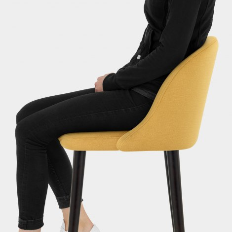 Polo Bar Stool Mustard Fabric Seat Image