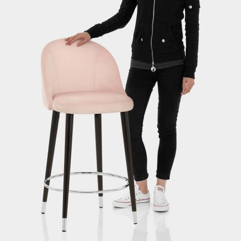 Polo Bar Stool Pink Velvet Features Image