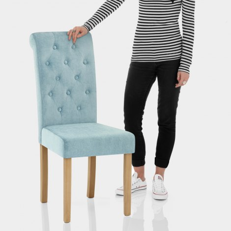 Portland Dining Chair Blue Fabric Features Image