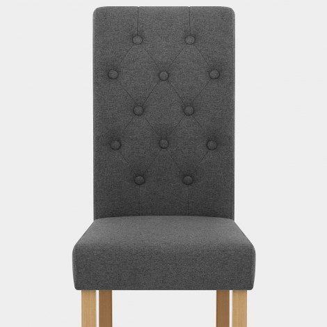 Portland Dining Chair Charcoal Fabric Seat Image