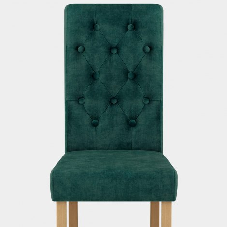 Portland Dining Chair Green Velvet Seat Image