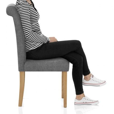 Portland Dining Chair Grey Fabric Frame Image