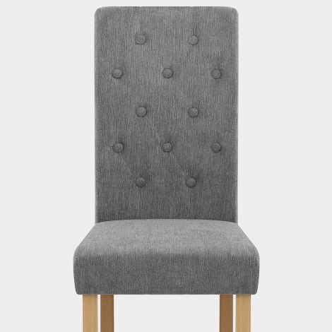 Portland Dining Chair Grey Fabric Seat Image