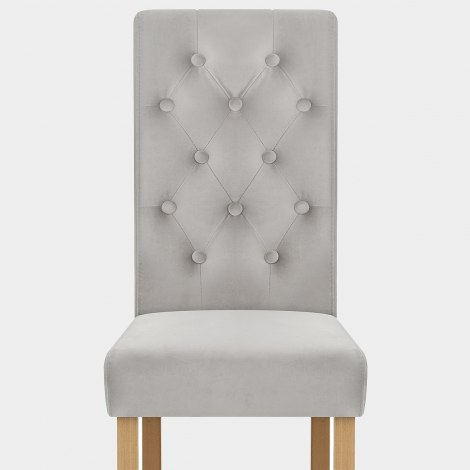 Portland Dining Chair Grey Velvet Seat Image
