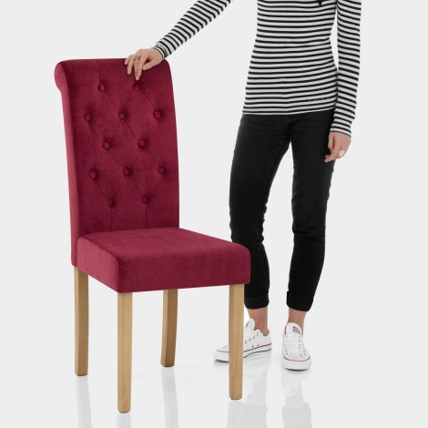Portland Dining Chair Red Fabric Features Image