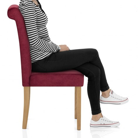 Portland Dining Chair Red Fabric Frame Image