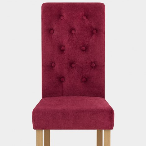 Portland Dining Chair Red Fabric Seat Image