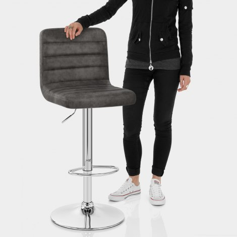 Prime Bar Stool Charcoal Features Image