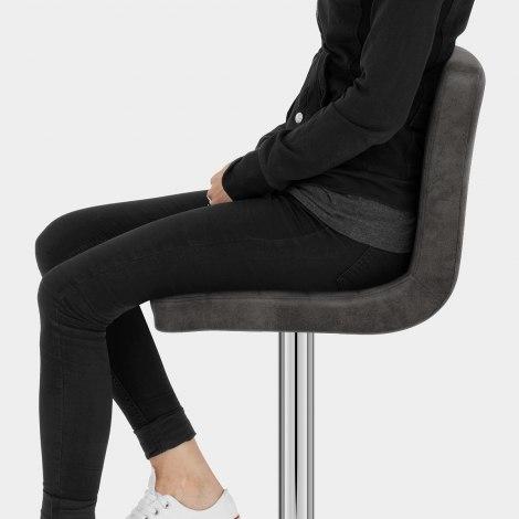 Prime Bar Stool Charcoal Seat Image