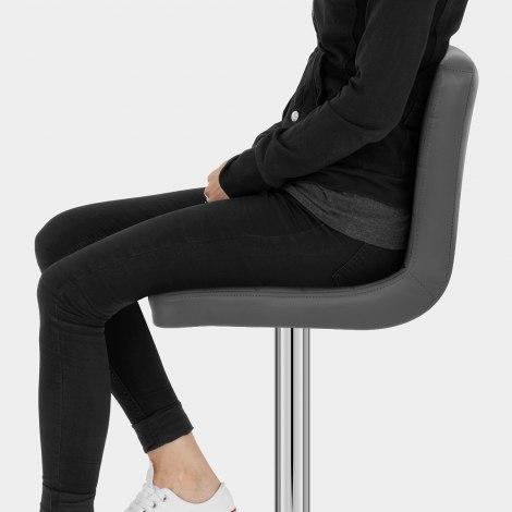 Prime Bar Stool Grey Seat Image