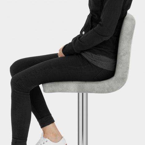 Prime Bar Stool Light Grey Seat Image