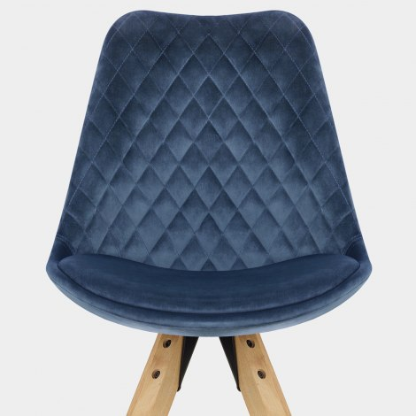 Prism Dining Chair Blue Velvet Seat Image
