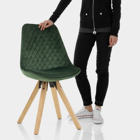 Prism Dining Chair Green Velvet Features Image