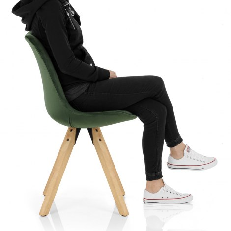 Prism Dining Chair Green Velvet Seat Image