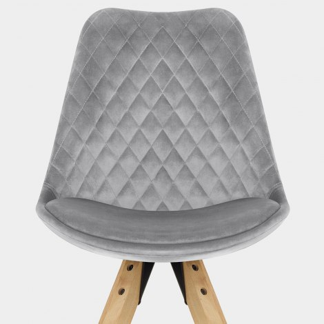Prism Dining Chair Grey Velvet Seat Image