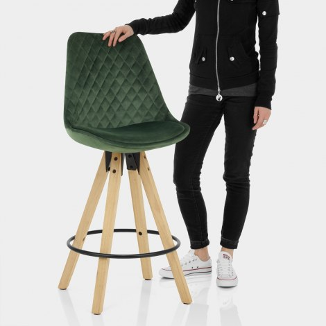 Prism Bar Stool Green Velvet Features Image