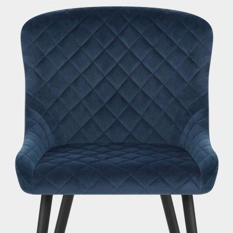 Provence Dining Chair Blue Velvet Seat Image