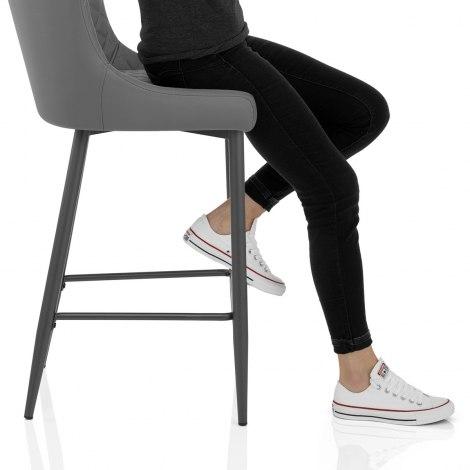 Provence Bar Stool Grey Seat Image
