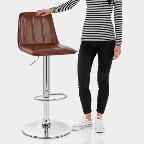 Pulse Bar Stool Antique Brown Features Image