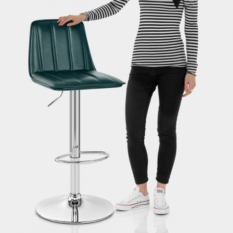 Pulse Bar Stool Antique Green Features Image