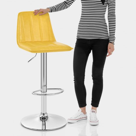 Pulse Bar Stool Antique Yellow Features Image