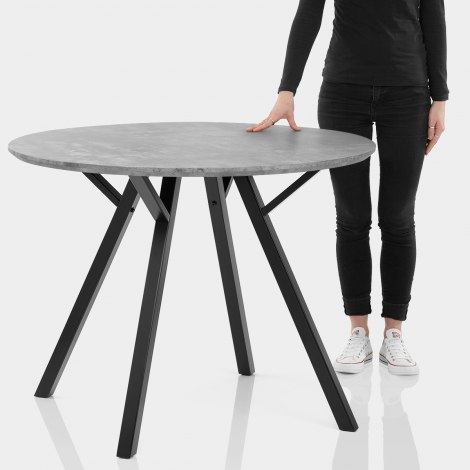 Quest 100cm Dining Table Concrete Features Image