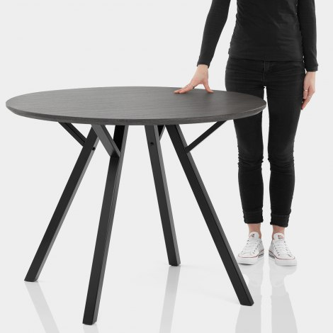 Quest 100cm Dining Table Grey Wood Features Image