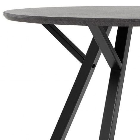 Quest 100cm Dining Table Grey Wood Frame Image