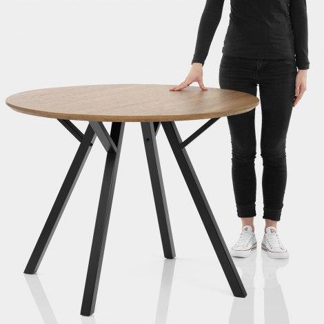 Quest 100cm Dining Table Oak Features Image