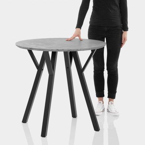 Quest 80cm Dining Table Concrete Features Image