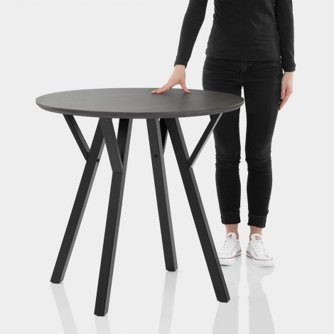 Quest 80cm Dining Table Grey Wood Features Image