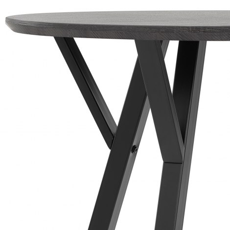 Quest 80cm Dining Table Grey Wood Seat Image