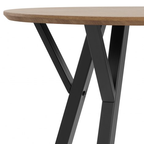 Quest 80cm Dining Table Oak Seat Image