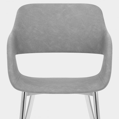 Quinn Dining Chair Antique Grey Seat Image