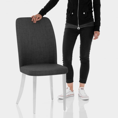 Radley Dining Chair Charcoal Fabric Features Image