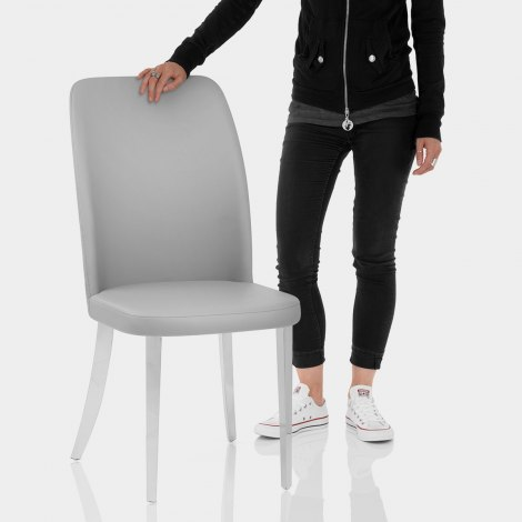 Radley Dining Chair Grey Leather Features Image