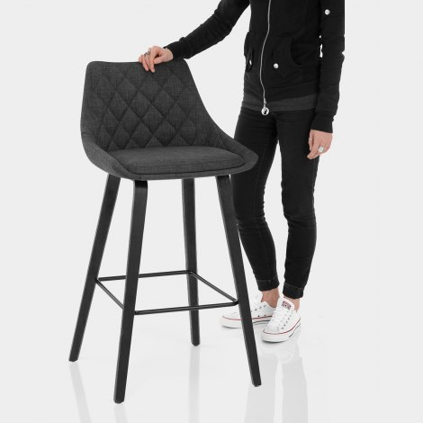 Regent Bar Stool Charcoal Features Image