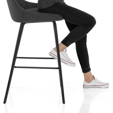 Regent Bar Stool Charcoal Seat Image