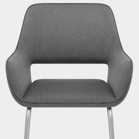 Remix Dining Chair Grey Fabric Seat Image