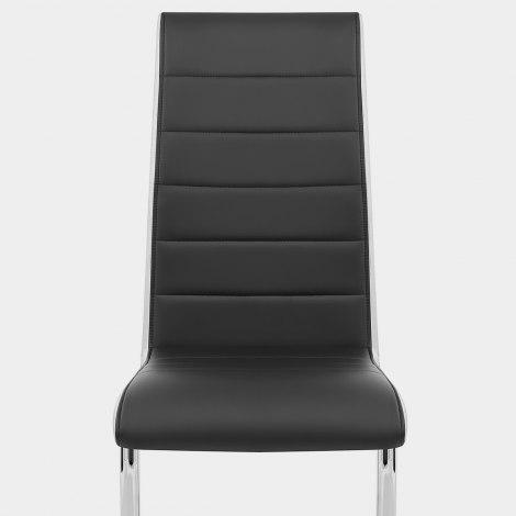 Renoir Dining Chair Black & White Sides Seat Image