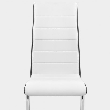 Renoir Dining Chair White & Black Sides Seat Image