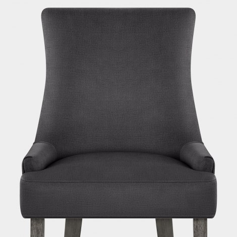 Richmond Grey Oak Chair Charcoal Fabric Seat Image