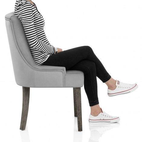 Richmond Grey Oak Chair Grey Fabric Seat Image