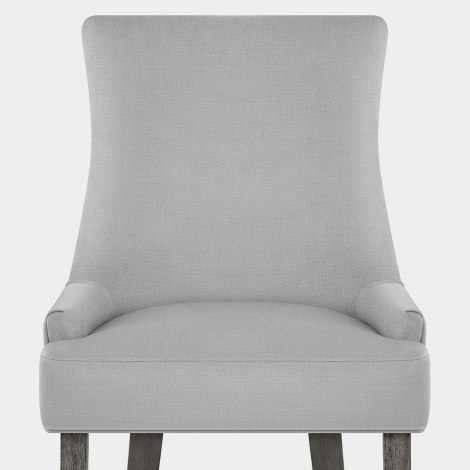 Richmond Grey Oak Chair Grey Fabric Seat Image