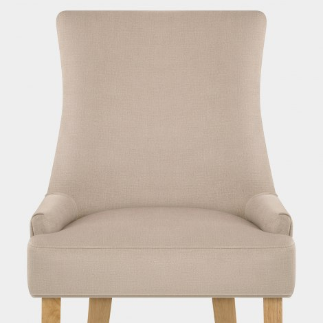 Richmond Oak Dining Chair Beige Fabric Seat Image