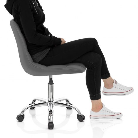 Rochelle Office Chair Grey Seat Image