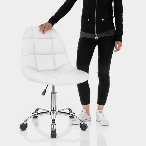 Rochelle Office Chair White Features Image