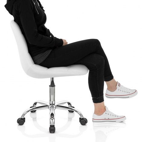 Rochelle Office Chair White Seat Image
