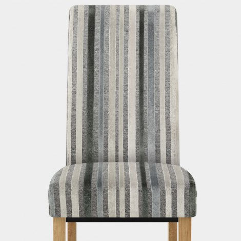 Roma Oak Dining Chair Cambridge Stripe Seat Image