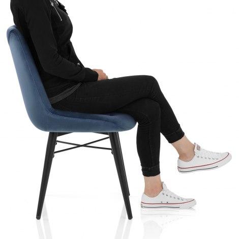 Roxy Dining Chair Blue Velvet Frame Image